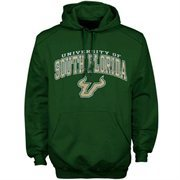 Mens Forest Green South Florida Bulls Arch Over Logo Hoodie