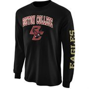 Mens Boston College Eagles Black Arch & Logo Long Sleeve T-Shirt