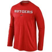 Rutgers Scarlet Knights Nike Wordmark Long Sleeve T-Shirt - Scarlet