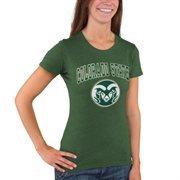 Women's Green Colorado State Rams Big Arch & Logo T-Shirt