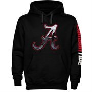 Alabama Crimson Tide Chrome Logo Hoodie - Black