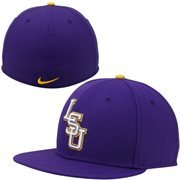Nike LSU Tigers True Colors Authentic Performance Fitted Hat - Purple