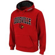 Louisville Cardinals Red Classic Twill II Pullover Hoodie Sweatshirt