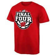 Men's Cardinal Wisconsin Badgers 2015 NCAA Men's Basketball Tournament Final Four Bound Crafted T-Shirt