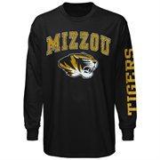 Mens Missouri Tigers Black Arch & Logo Long Sleeve T-Shirt