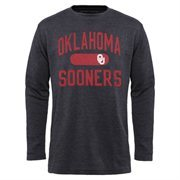 Men's Oklahoma Sooners Charcoal Straight Out long Sleeve Thermal T-Shirt