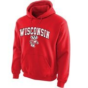 Wisconsin Badgers Midsize Arch Pullover Hoodie - Cardinal