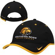Mens Southern Miss Golden Eagles Nike Black 2014 Coaches Performance Adjustable Hat