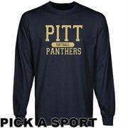 Pitt Panthers Custom Sport Long Sleeve T-shirt - Navy Blue
