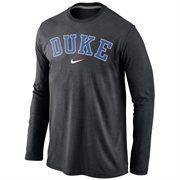 Duke Blue Devils Nike Wordmark Long Sleeve T-Shirt - Black