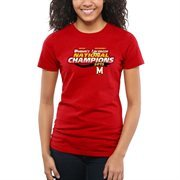 Women's Red Maryland Terrapins 2015 NCAA Women's Lacrosse National Champions Slim Fit T-Shirt