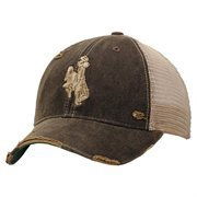Wyoming Cowboys Emblem Adjustable Hat - Black