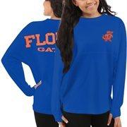 Women's Florida Gators Blue Sweeper Long Sleeve Oversized Top