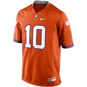 Mens Clemson Tigers Nike Orange No. 10 Limited Football Jersey