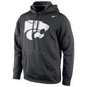 Kansas State Wildcats Nike Warp Logo Therma-FIT Hoodie - Black