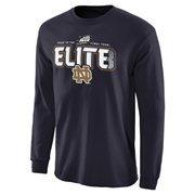 Men's Navy Blue Notre Dame Fighting Irish 2015 NCAA Men's Basketball Tournament ELITE 8 Long Sleeve T-Shirt
