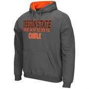 Mens Oregon State Beavers Charcoal 3 Stack II Pullover Hoodie