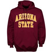 Mens Arizona State Sun Devils Maroon Bold Arch Hoodie