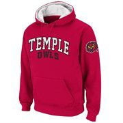 Temple Owls Double Arches Pullover Hoodie - Cherry
