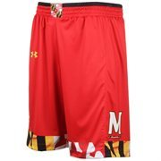 Mens Maryland Terrapins Under Armour Red Replica Basketball Shorts