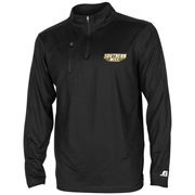 Mens Southern Miss Golden Eagles Russell Black Sideline Coaches Quarter Zip Jacket
