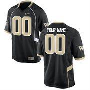 Men's Wake Forest Demon Deacons Nike Black Team Color Custom Game Jersey