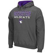 Northwestern Wildcats 3 Stack II Hoodie - Charcoal