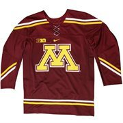 Mens Minnesota Golden Gophers Maroon Twill Hockey Jersey