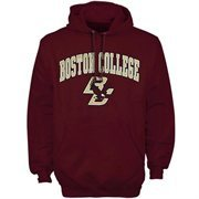 Mens Maroon Boston College Eagles Arch Over Logo Hoodie