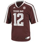 adidas Texas A&M Aggies Youth #12 Premier Master Jersey - Maroon