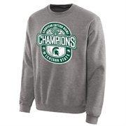 Mens Michigan State Spartans Ash 2015 Cotton Bowl Champions Lockout Sweatshirt
