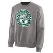 Mens Michigan State Spartans Ash 2015 Cotton Bowl Champions Distressed Sweatshirt