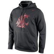 Washington State Cougars Nike Warp Logo Therma-FIT Hoodie - Black
