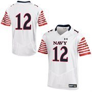 Mens Navy Midshipmen Under Armour White Event Jersey