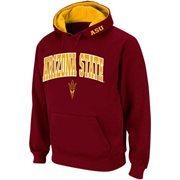 Mens Arizona State Sun Devils Maroon Classic Arch Logo Twill Hoodie