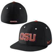 Nike Oregon State Beavers True Colors Authentic Performance Fitted Hat - Black