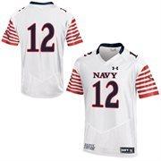 Mens Navy Midshipmen Under Armour White Event Jersey