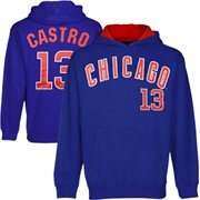Starlin Castro Chicago Cubs Youth Player Name & Number Hoodie - Royal Blue