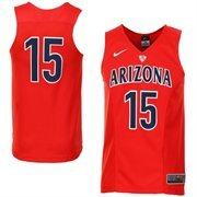 Men's Nike No. 15 Red Arizona Wildcats Hyper Elite Authentic Basketball Jersey