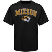 Mens Black Missouri Tigers Arch Over Logo T-Shirt