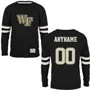 Wake Forest Demon Deacons Gameday Personalized Name & Number Slub T-Shirt - Black