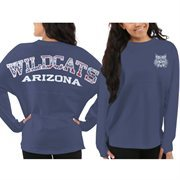 Women's Arizona Wildcats Blue Aztec Sweeper Long Sleeve Oversized Top