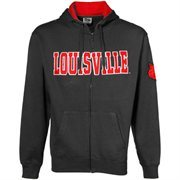 Louisville Cardinals Charcoal Classic Twill Full Zip Hoodie Sweatshirt