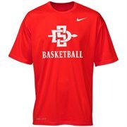 Mens San Diego State Aztecs Nike Scarlet Basketball Legend Practice Performance T-Shirt