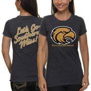 Southern Miss Golden Eagles Women's Audible Melange Double-Sided T-Shirt - Black