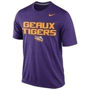 LSU Tigers Nike Legend Local Performance T-Shirt - Purple