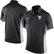 Men's Nike Black West Virginia Mountaineers Team Issue Performance Polo