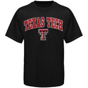 Mens Black Texas Tech Red Raiders Arch Over Logo T-Shirt