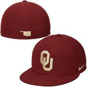 Men's Nike Crimson Oklahoma Sooners Vapor True Color Authentic Performance Fitted Hat