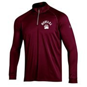 Men's Montana Grizzlies Under Armour Maroon Performance Quarter-Zip T-Shirt